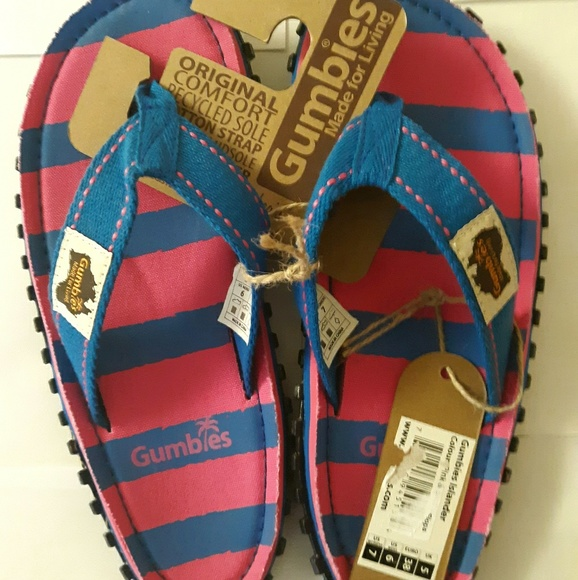 BRAND NEW 2020 OFFICIAL GUMBIES NATURAL FLIP-FLOPS ISLANDER FOOT-WEAR Tagged